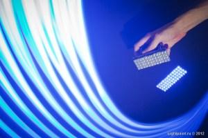Синяя матрица для световой каллиграфии
