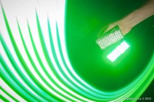 Зелёная матрица для световой каллиграфии