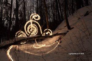 Рисование открытым огнем - Кельтский орнамент