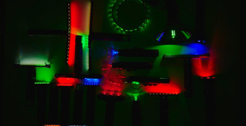 Фотография lightpaint кисточек к статье