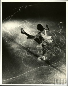 Figure Skater Carol Lynne by Light Painting Photographer Gjon Mili