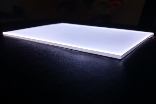 small resolution of view larger image led light guide panel