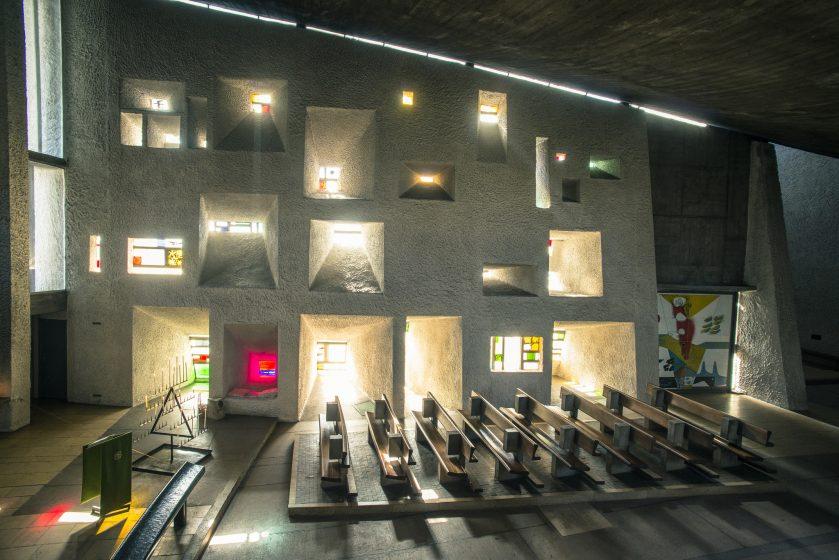 Image result for capilla de ronchamp interior images
