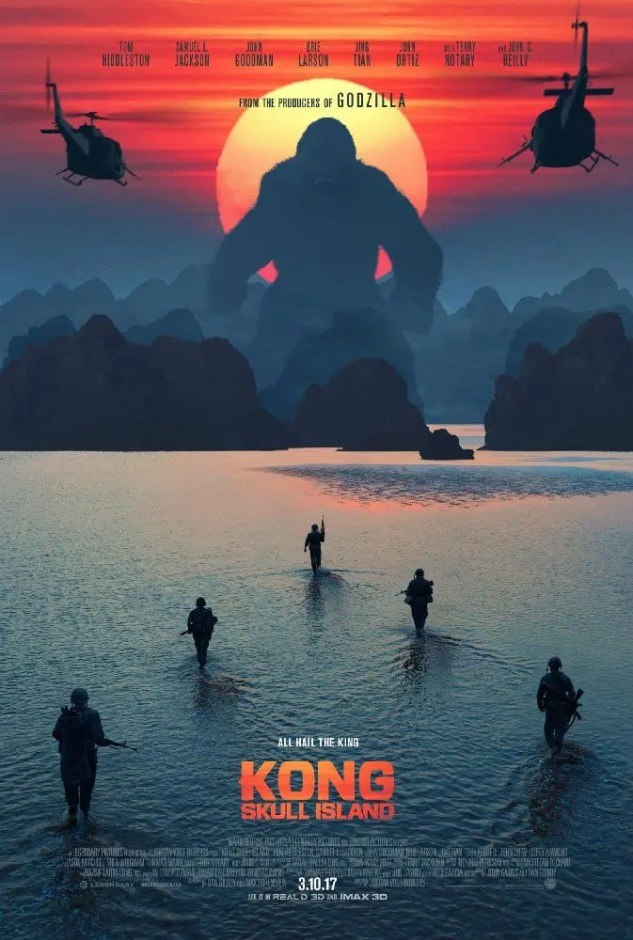 Kong: Skull Island Movie Poster. Click the photo to read a film talk, movie review and discussion on this film on Lights, Camera, BAKE! #KongSkullIsland #MovieReview #KingKong