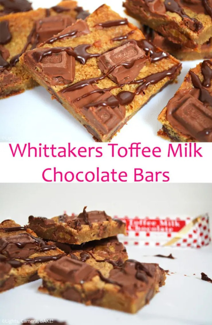 Whittakers Toffee Milk Chocolate Bars (Video) - Lights, Camera, BAKE!