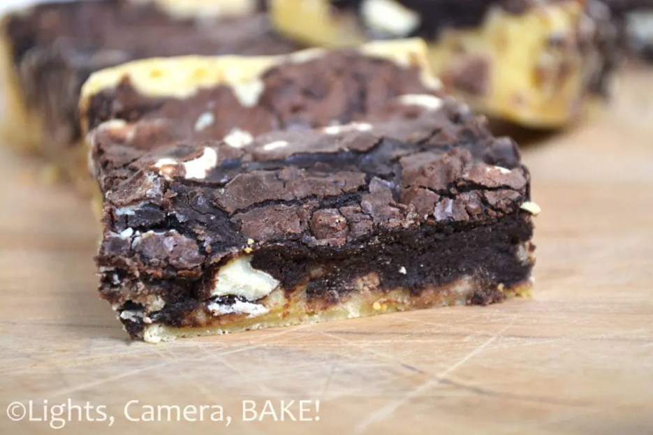 I call this a Zebra Brownie. A rich and fudgy chocolate brownie mixed with a sweet and gooey white chocolate brownie. A delicious dessert! #zebrabrownie #whitechocolatebrownie #fudgybrownie