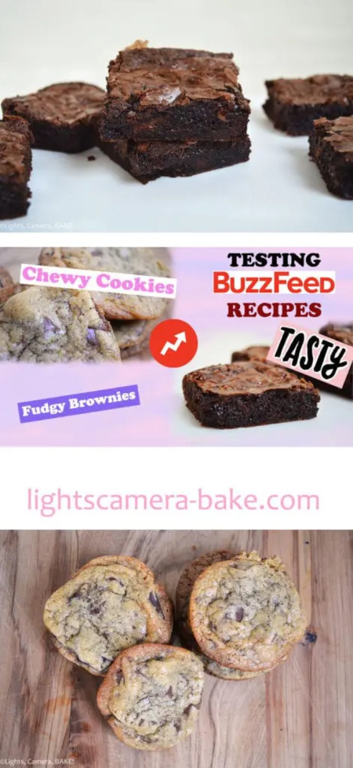 BuzzFeed's The Best Fudgy Brownies and The Best Chewy Chocolate Chip Cookies Taste Test on Lights, Camera, BAKE! I tried the viral Tasty's videos to see if the recipes for these brownies and cookies really were the best...