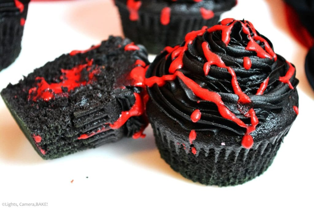 Blood Sucking Vampire Cupcakes