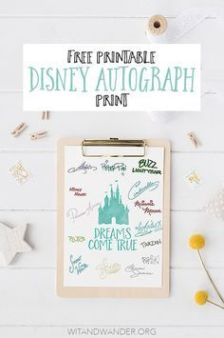 Autograph page or the princesses