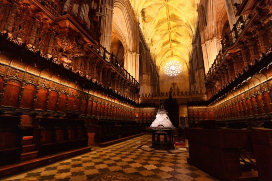 The choir room. The stalls look appropriately gothic as well.
