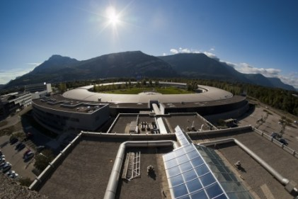Aerial view of the European synchrotron in France. (Credit: ESRF 2014)