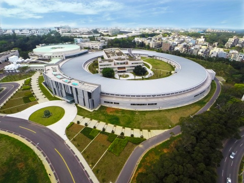 Aerial view of the National Synchrotron Radiation Research Center in Taiwan. (Credit: NSRRC)