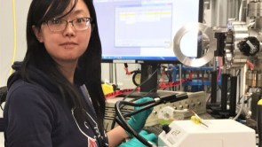 Picture: Dr. Li at the Canadian Light Source