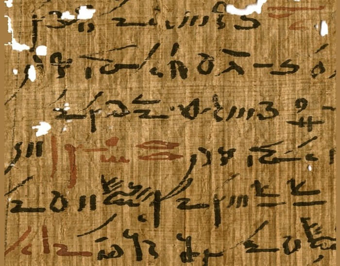 Red and black ink from Egyptian papyri unveil ancient writing practices
