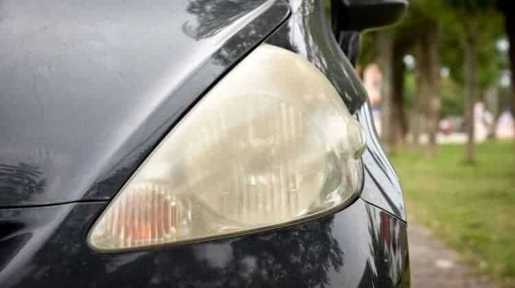 how to clean oxidized headlights