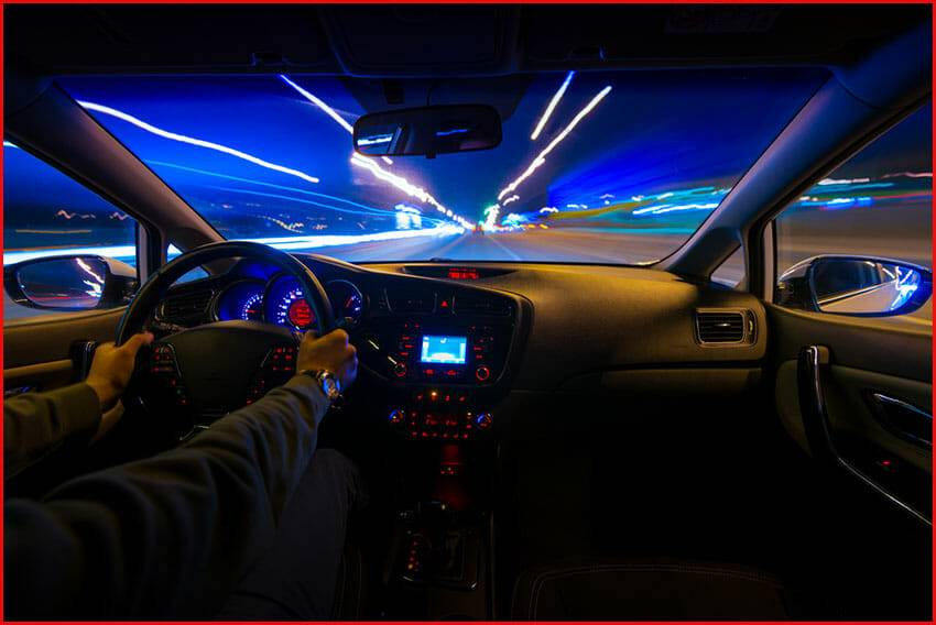 How can we avoid problems of high beam while driving?