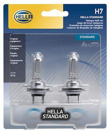 HELLA H7TB Standard-55W Standard Halogen H7 Bulbs
