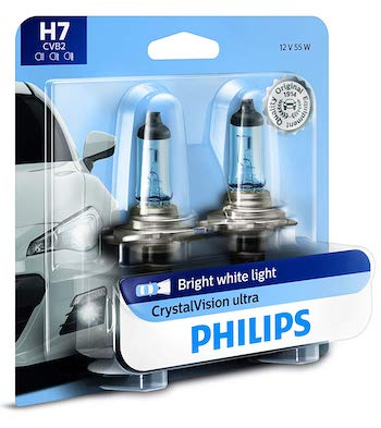 Philips 12972CVB2 CrystalVision Ultra Upgrade Bright White Headlight Bulb