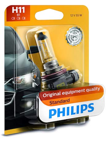 Philips H11 Standard Authentic Halogen Replacement Headlight Bulb
