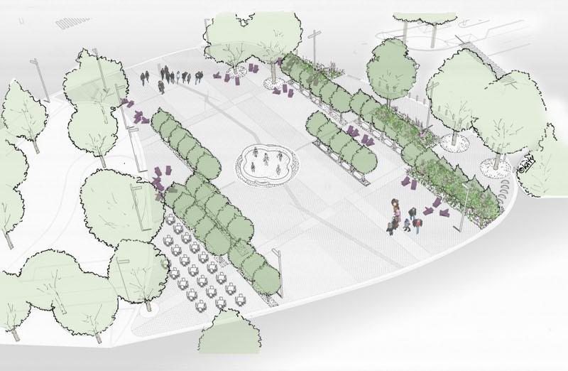 Aree di ristoro e boschi lineari Piazzale Marconi il nuovo volto  Cronaca Bergamo