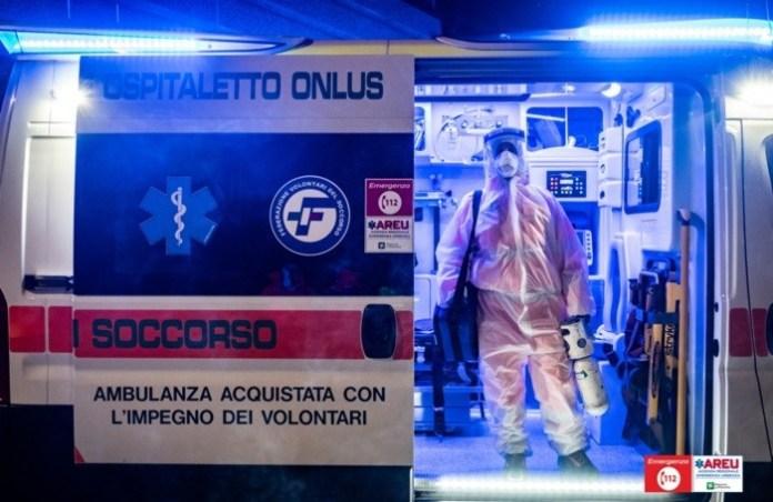 An operator on the ambulance