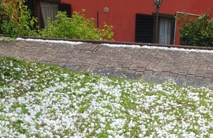 The hail in Cerete