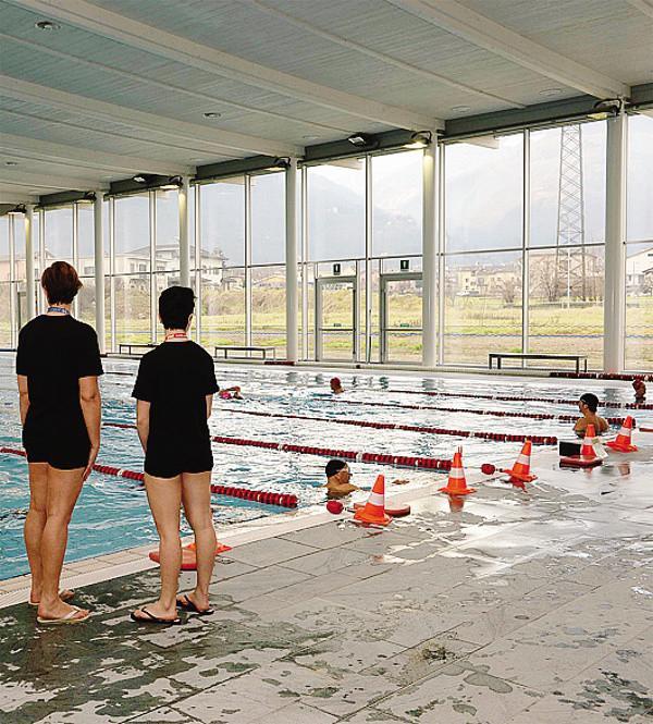 Morbegno c condensa nei tubi Secchi sulle tribune in piscina  Cronaca Morbegno