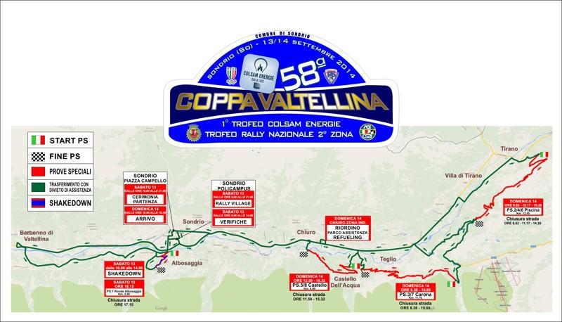 Rally Coppa Valtellina Ecco cartine e filmati  Cronaca Sondrio