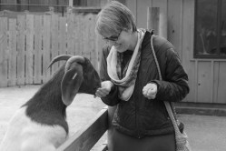 Hungry goat and me