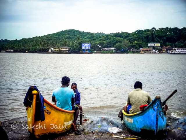 Fishermen with their boats