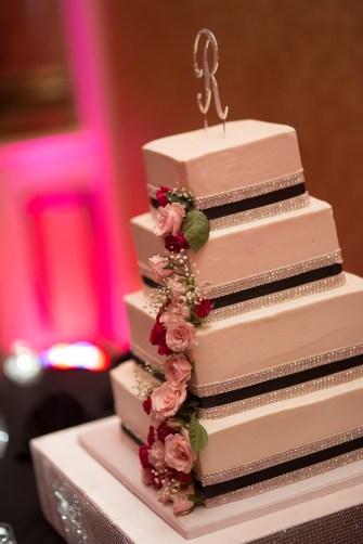 lit up cake