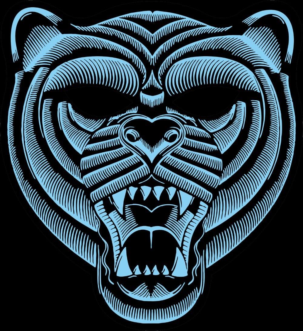 3d tiger led mask