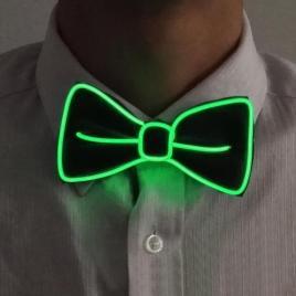 darkgreen-el-wire-bow-tie