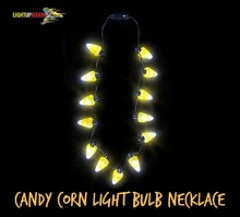 Candy Corn Light Bulb Necklace