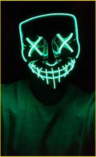 light up the purge mask