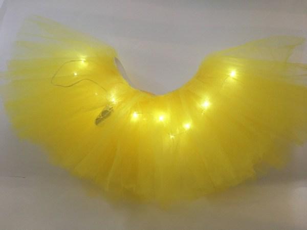 light up tutu yellow 2