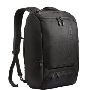 "eBags Professional Slim Laptop Backpack for Travel, School & Business - Fits 17"" Laptop - Anti-Theft - (Solid Black)"
