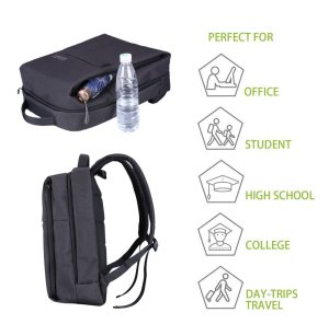 AISPARKY Laptop Backpack, Business Anti-Theft Water Resistant Travel Computer Backpack for College Student for Women Men, Fits 15.6 Inch Laptop and Notebook of Business Laptop Backpack