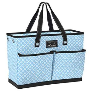 SCOUT BJ BAG, Large Utility Tote Bag with 4 Exterior Pockets and Max-Capacity Zipper (Multiple Patterns Available)