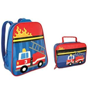 Stephen Joseph Fire Truck Backpack and Lunch Box Combo - Boys Backpacks