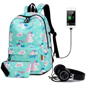 PANTIPINKY Travel Laptop Backpack with USB Charging Port & Headphone Interface Large Capacity School Backpack for College Student