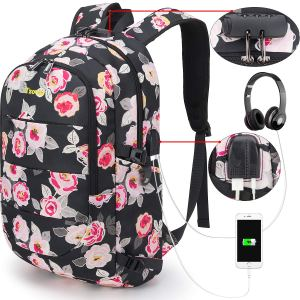 Tzowla Business Laptop Backpack Water Resistant Anti-Theft College Backpack with USB