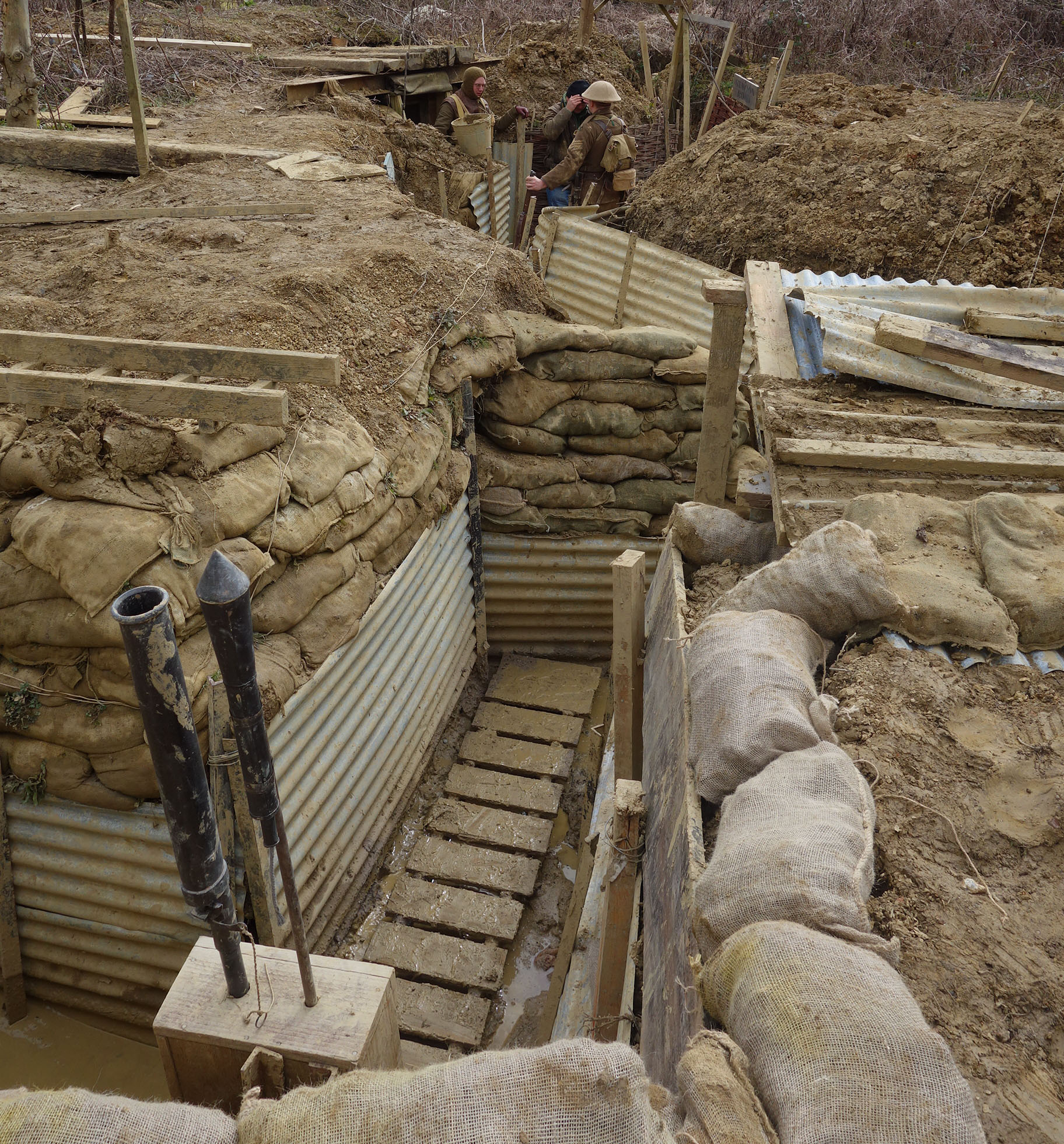 Experiencing The Muddy Conditions Of A Ww1 Trench
