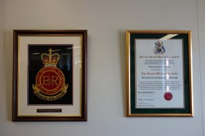 The Freedom of the Borough plaques in the Members Room in the Council Offices
