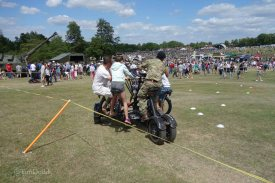 17-Royal Engineers seven-person bicycle amuses visitors