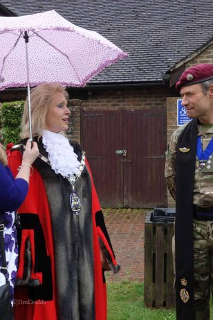 3-The Mayor talks to her chaplain Rev Phil Parker