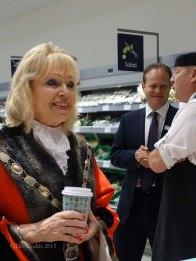 4-Surrey Heath Mayor, Rob Collins and Partner at the Fish counter_1