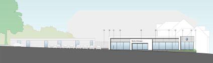 Martins new VW showroom in Camberley