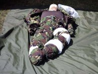 5--Army Cadet Force dummy