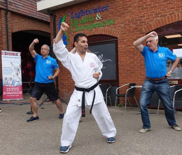 13-LBA committee members join karate display